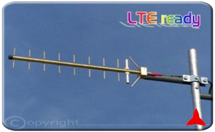 AR1036.Z Directional Yagi Antenna low visual impact 790 - 960 MHz GSM GSM-R LTE 4g