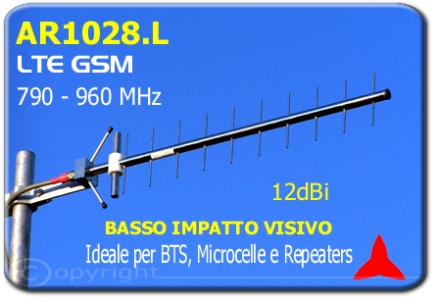 AR1028.L Low environmental impact directional antenna 790 - 960 MHz 12 dBi 4G GSM GSM-R LTE